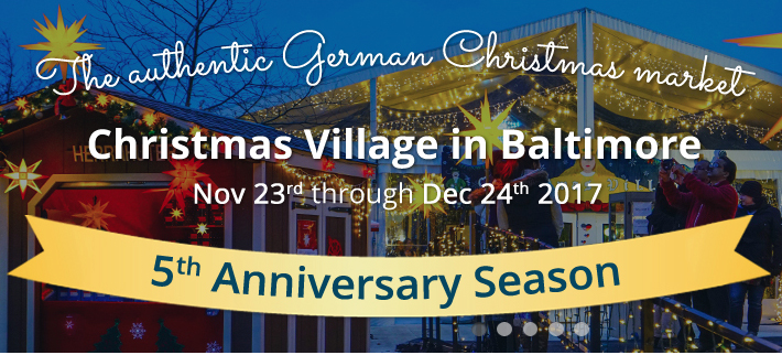 come out and visit baltimores christmas village an authentic german style christmas market in the heart of the inner harbor