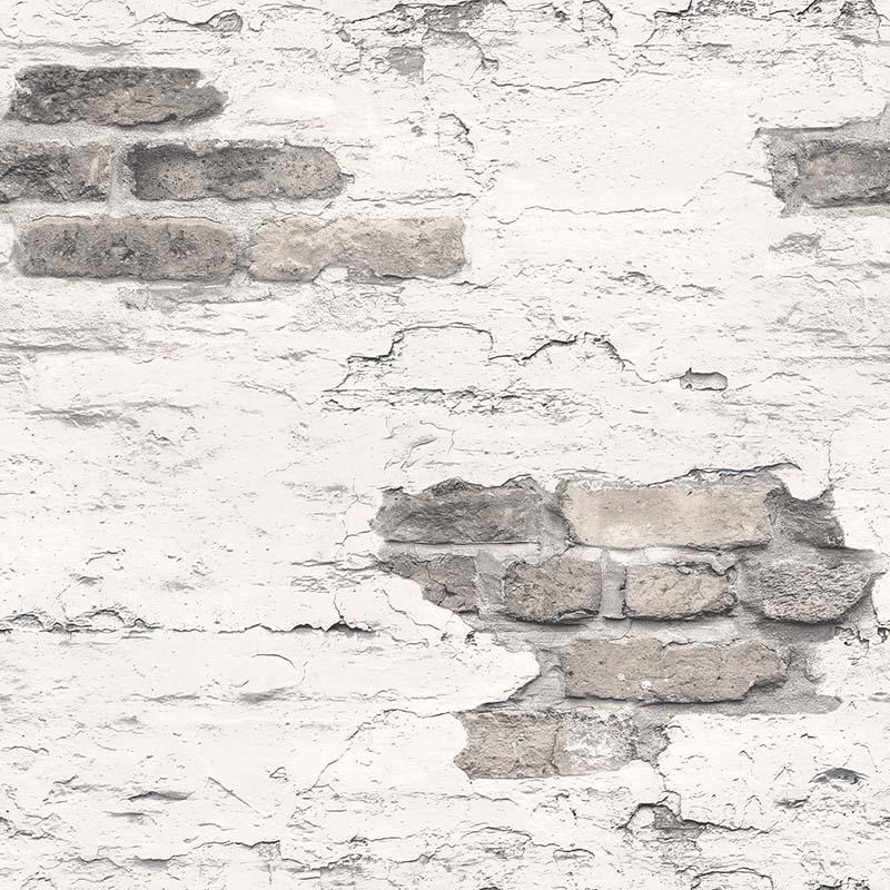 papier peint brique gris g45353 de la