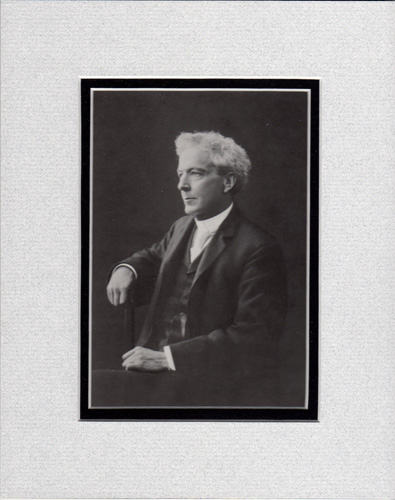 Photo of Luther Burbank, matted in grey