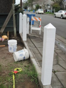 Construction of new Picket Fence February 2016