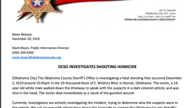 Photo of OCSO Investigates Fatal Shooting in Harrah