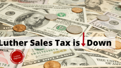 Photo of Luther Sales Taxes Dip