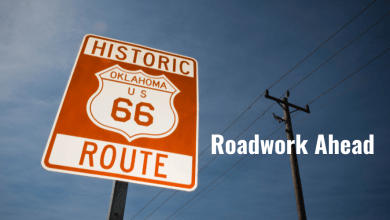 Photo of Road work for Route 66, and a planned power outage