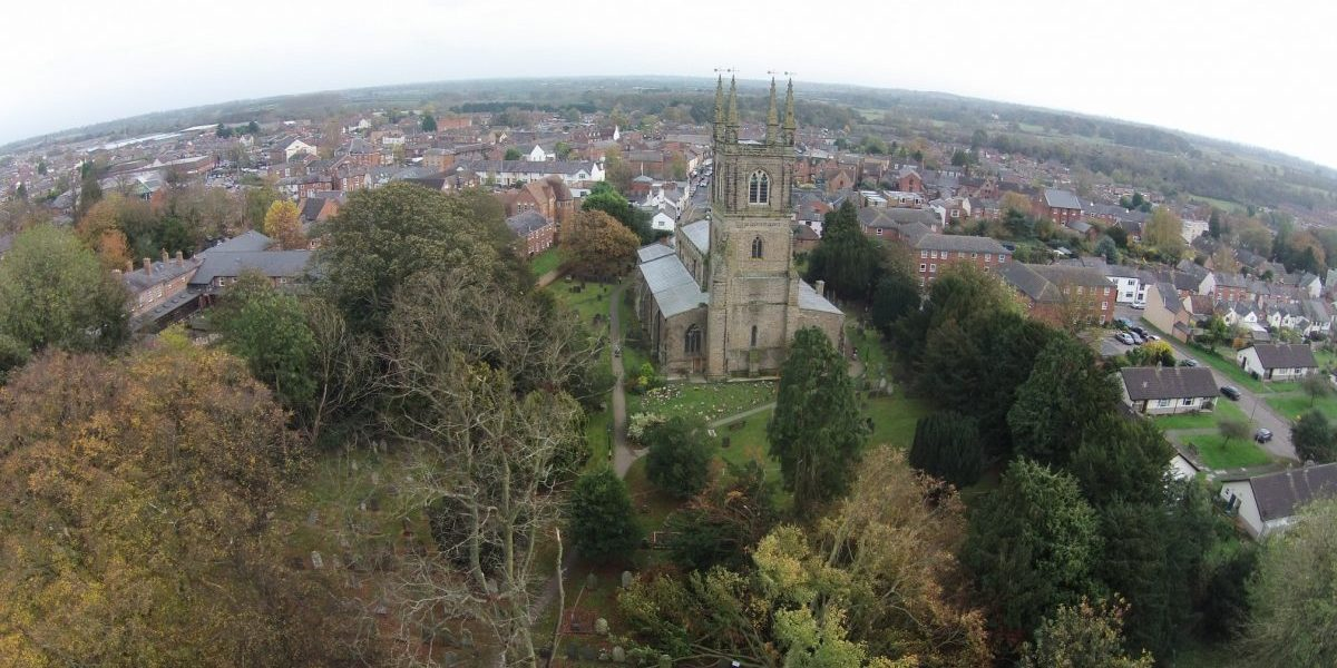 aerial photo of st marys lutterworth