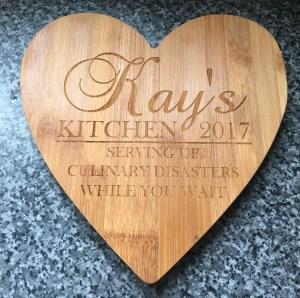 Kay's Kitchen Heart Board