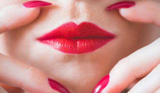 beauty-perfect-red-lips-and-nail-design-picjumbo-com