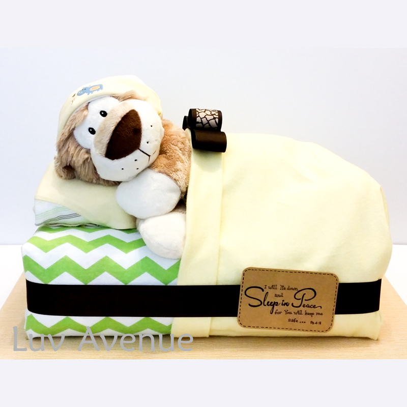 Sleeping Lion Diaper Cake Luv Avenue