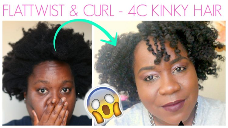 How to Flat Twist and Curl 4c Natural Hair