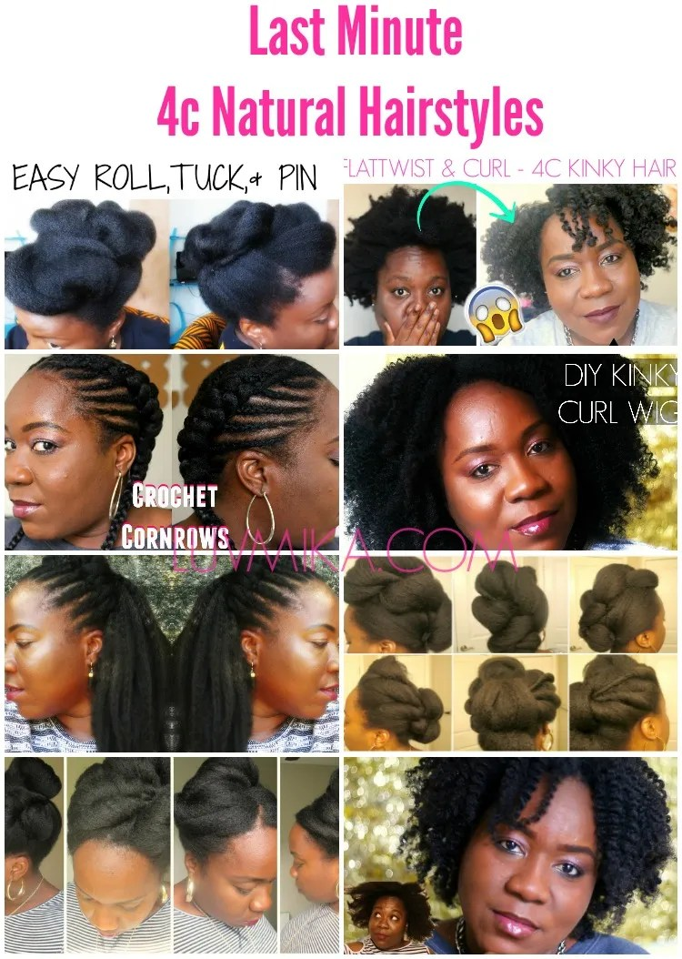 Easy Last Minute 4c Natural Hair Styles For Valentine S Day Fro