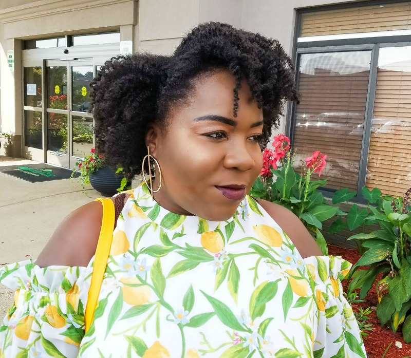 tcf style expo lemon print dress