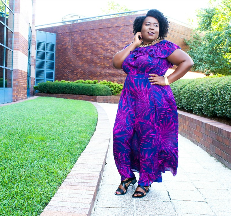 yours clothing maxi dress at tcf style expo