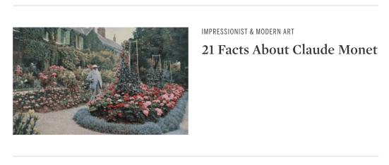 Article of 21 Facts About Claude Monet by Sotheby's