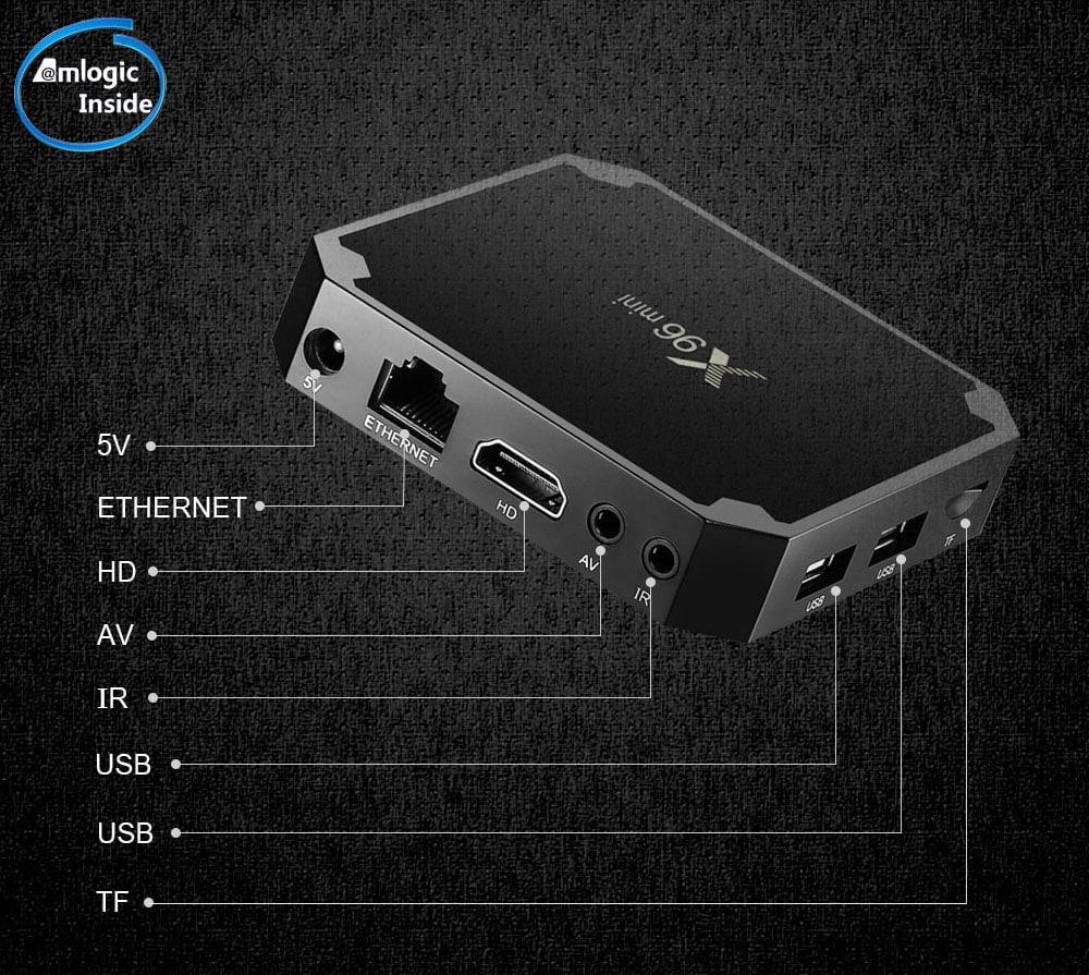 BOITIER ANDROID X96 MINI + 12 MOIS IPTV