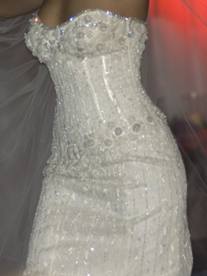 diamond weeding dress