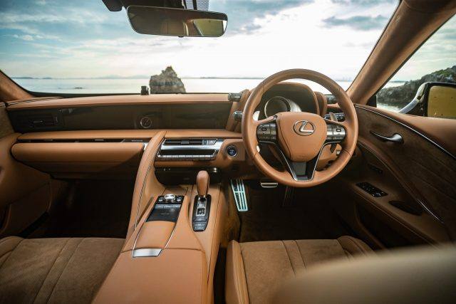 Interiors of Lexus LC 500h