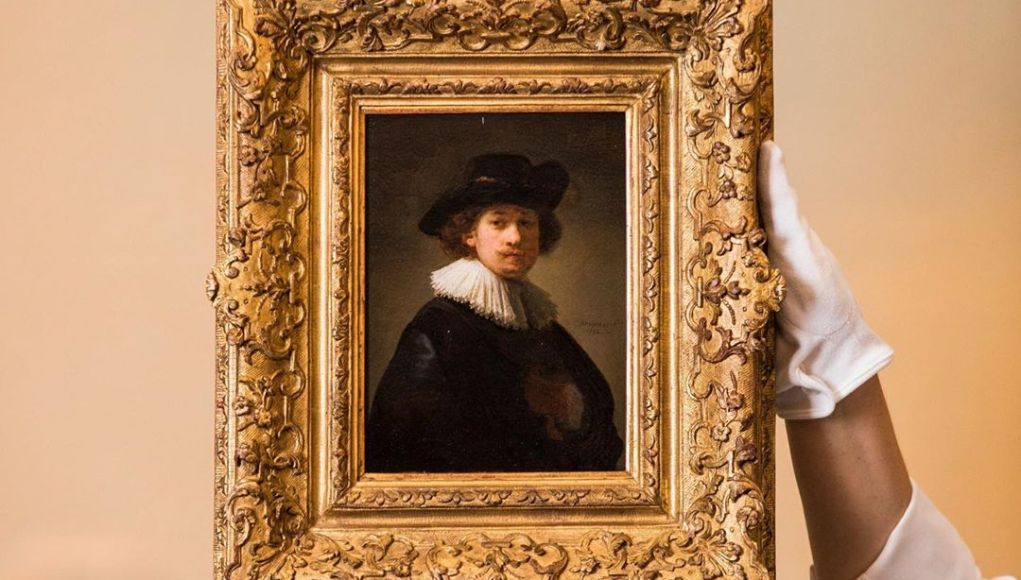 Self Portrait by Rembrandt. Sourse: Instagram - Sotheby's