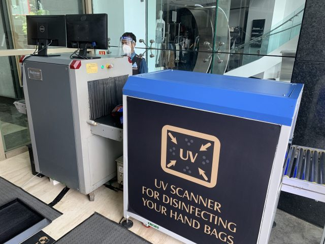 UV Scanner at the entry gate