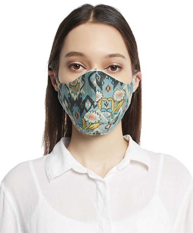Payal Singhal Ikat print mask