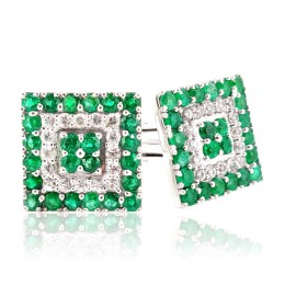 emerald and diamond cufflinks, gifts for men