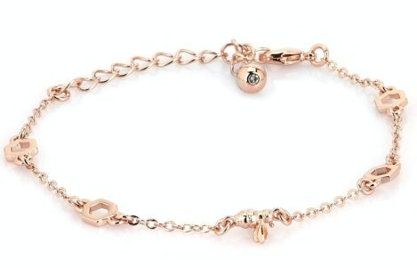 gold bumblebee bracelet by Ted Baker