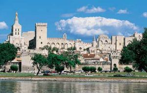 Papal city of Avignon France