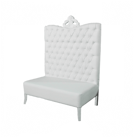 Delicieux White Luxe Line High Back Sofa   Image On Https://www.luxeeventrental