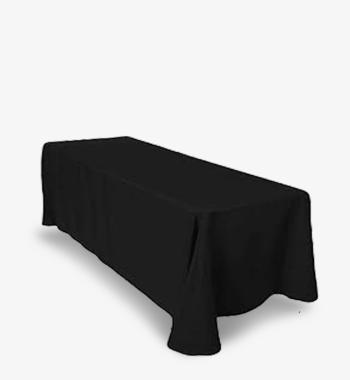 8ft 90x156 black tablecloth rental