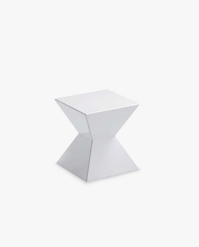 Elegant White Moroccan Modern End Table