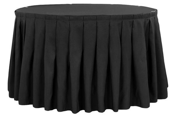 21 Ft Black Table Skirt Luxe Event Rental