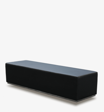 Black VIP Ottoman VIP Party Rentals and Lounge furniture