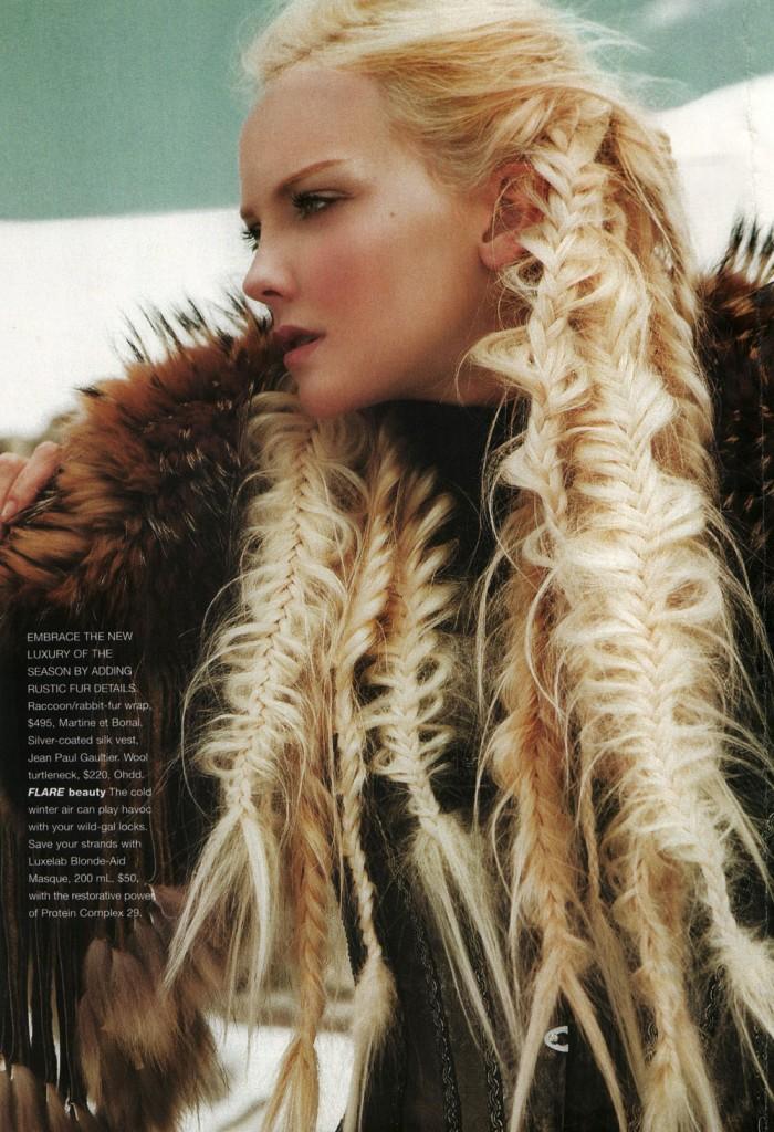 Flare Magazine Blonde Aid