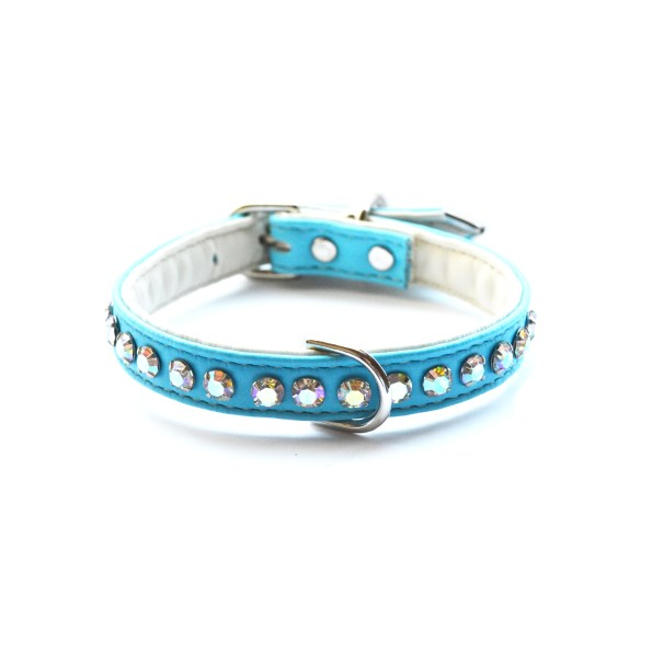 Ashley Designer Dog Robins Egg Crystal Collar (Copy)