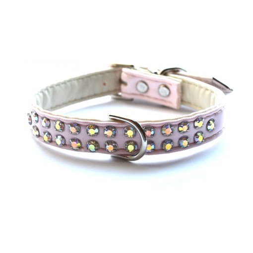 Double Row Char Collars Light Pink