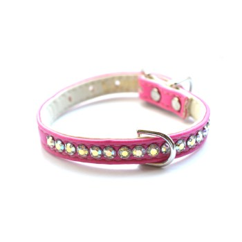 Jackie O Designer Dog Collar Hot Pink