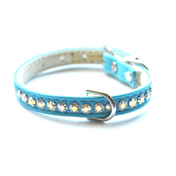 Jackie O Designer Dog Collar in Teal