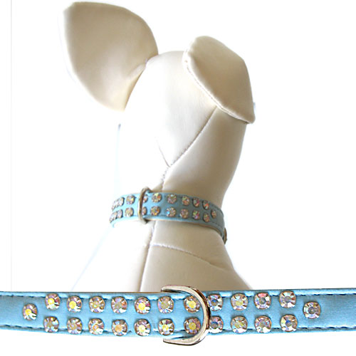 Double Row Char Collars Light Blue