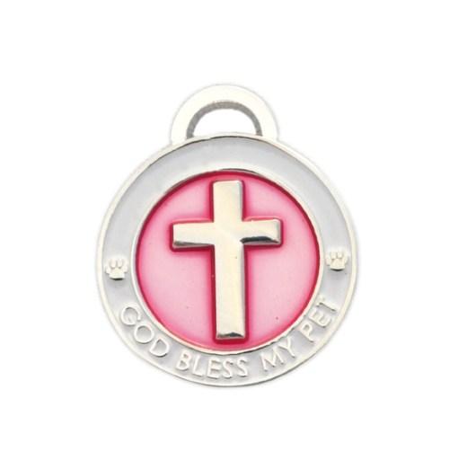 pet charm - cross pink