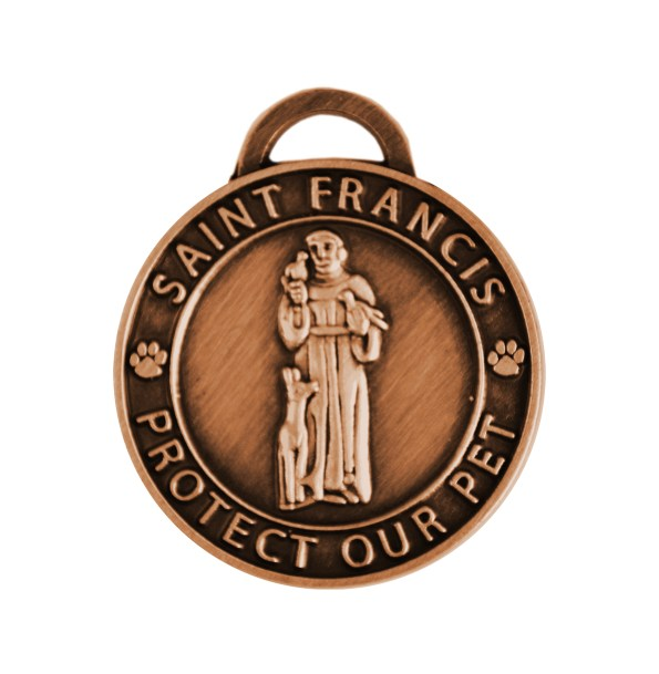 St Francis Pet Charm Small Copper