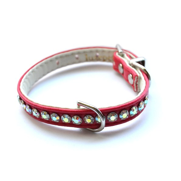 Jackie O Designer Dog Collar in Red