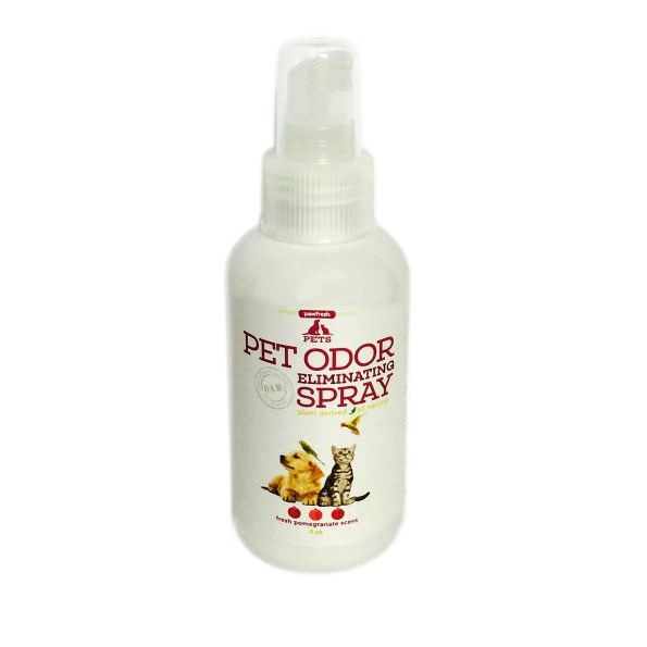 Pet Odor Eliminating Spray – Fresh Pomegranate Scent – for all pets – 4oz