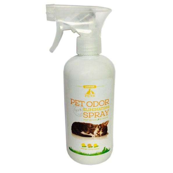 Pet Odor Eliminating Spray – Fresh Citrus Orange Scent – For Cat Urine – Cat Litter Box Odors-16oz
