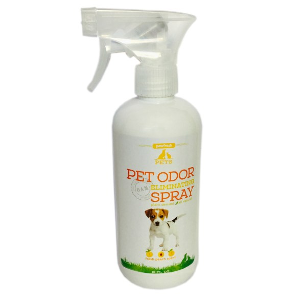 Pet Odor Eliminating Spray – Fresh Peach Scent – For Dogs -16oz