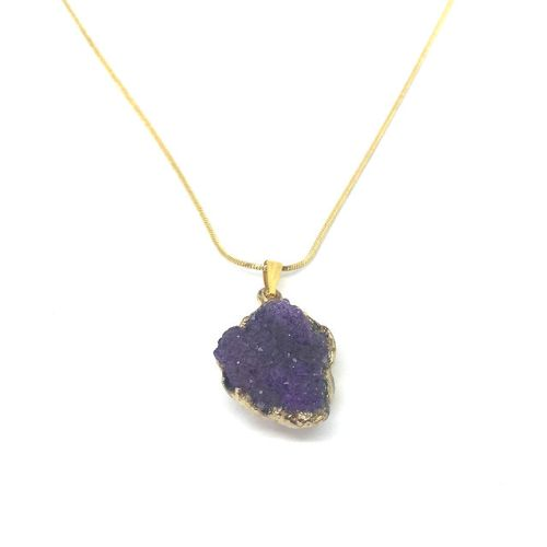 Purple Amethyst Crystal Pendant