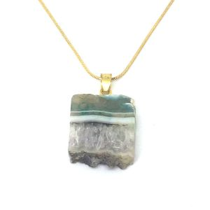 Druzy Quartz Crystal Pendant