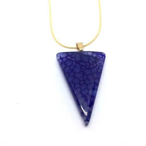 woman's purple agate pendant