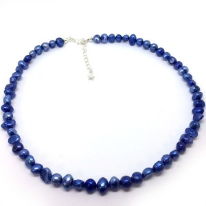 Blue Freshwater Pearl Necklace