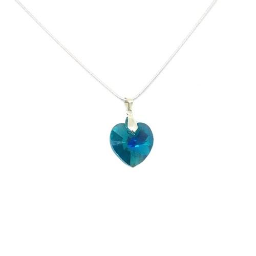 Green Swarovksi Heart Pendant