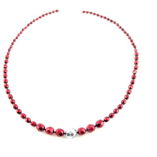 Czech fire polished necklace