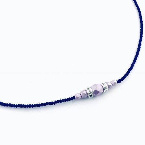 Fire polished Czech crystal necklace