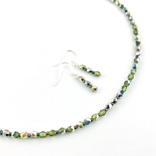 czech crystal necklace earrings set online uk